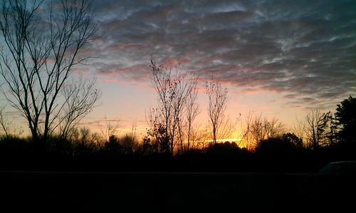 sky fall clouds sunrise driving commute
