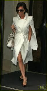 Victoria Beckham Cape Coat Celebrity Style Women's Fashion 2