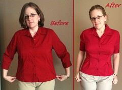 Pleated Top Before & After