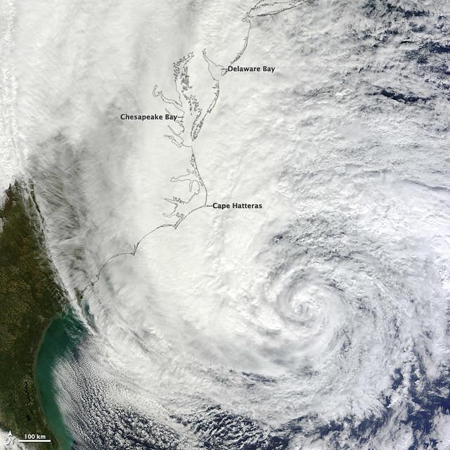 Hurricane Sandy off the Carolinas [detail]