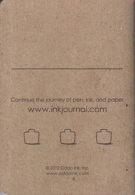 InkJournal Back Cover