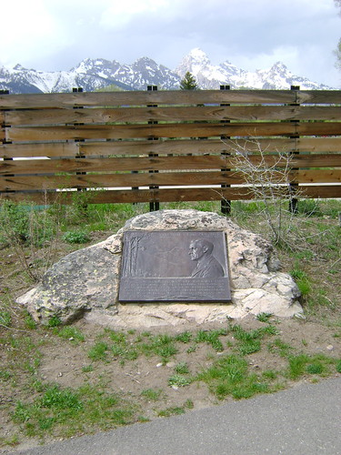 Stephen Mather Plaque in Teton