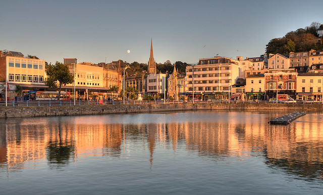 Golden Reflections at Torquay Harbour
