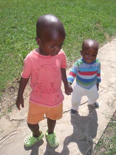 Jack brings little Munyau to nursery