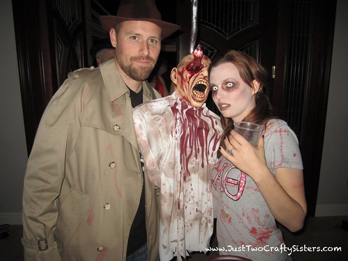 Zombie & Zombie Hunter Couples Costume