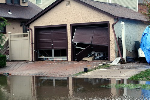 House affected by the hurricane