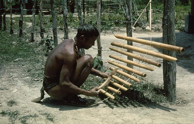 Vietnam 1956 - chơi đàn T'rưng
