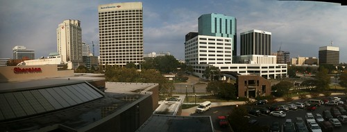 Panorama of Norfolk from hotel room