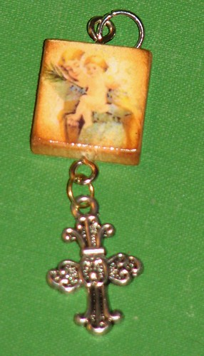 Ink Stains Altered Christmas Charm Swap 010