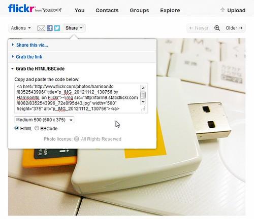 Flickrbloglink