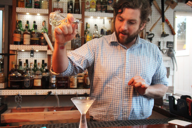 Bartender Joseph Brooke demos Salvatore Calabrese's Martini cocktail recipe by Caroline on Crack