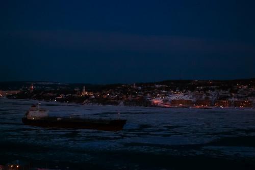 winter ice water ship quebec shipping oldquebec