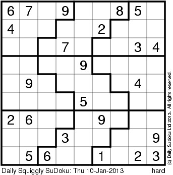 sudoku squiggly
