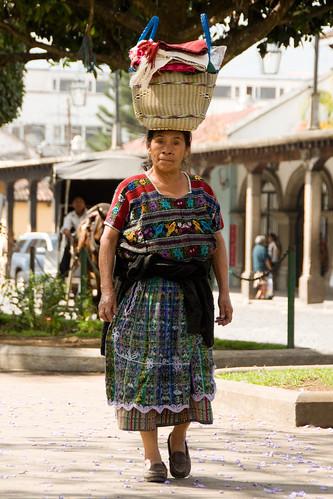 Mayan woman in the street