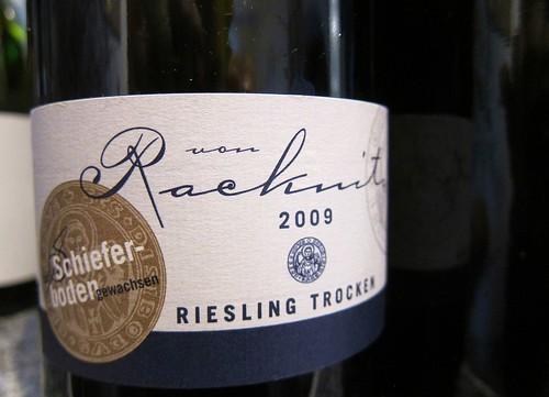 Von Racknitz Schiefer Riesling 2009