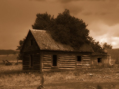 abandoned sepia architecture clouds rural log colorado decay orton logbuilding collbran