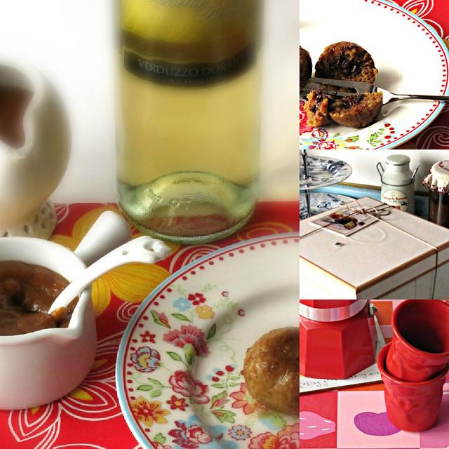 Canederli di Panettone con Cuore Fondente e Salsa Butterscotch al Caffè