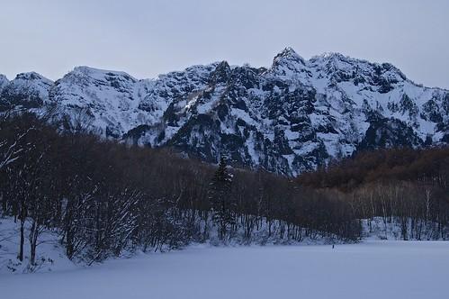 winter snow sony 日本 snowshoeing tamron 雪 冬 amount togakushi 鏡池 戸隠 スノーシュー b008 連峰 lakekagamiike 18270mmf3563diⅱpzd α37 slta37y