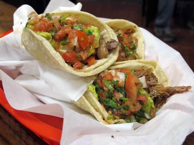 Tacos at La Taquería, 2889 Mission St, SF