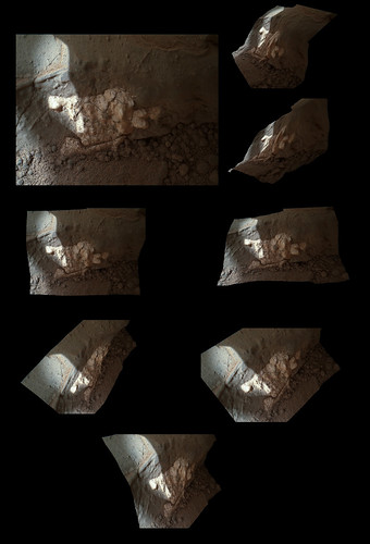 CURIOSITY sol 158 MAHLI 3d - drill target John Klein