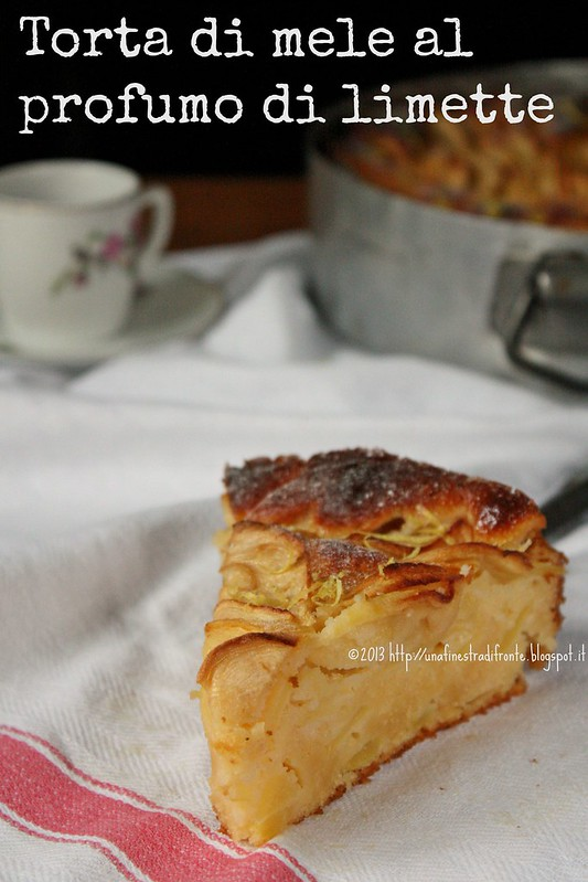 Una finestra di fronte torta di mele al profumo di limette - Una finestra di fronte ...