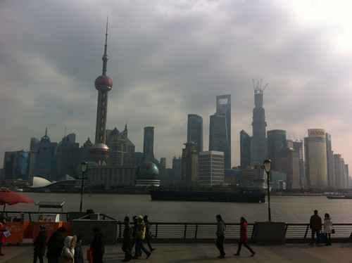 The Bund after the smog disappeared