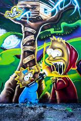 Simpsons - AlvaGraphics GraffAlot   Houston Graffiti