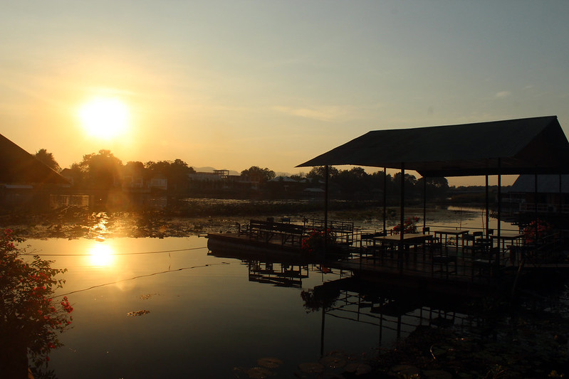 Sunset on the river Kwai
