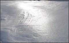 Schnee mit Eiskruste