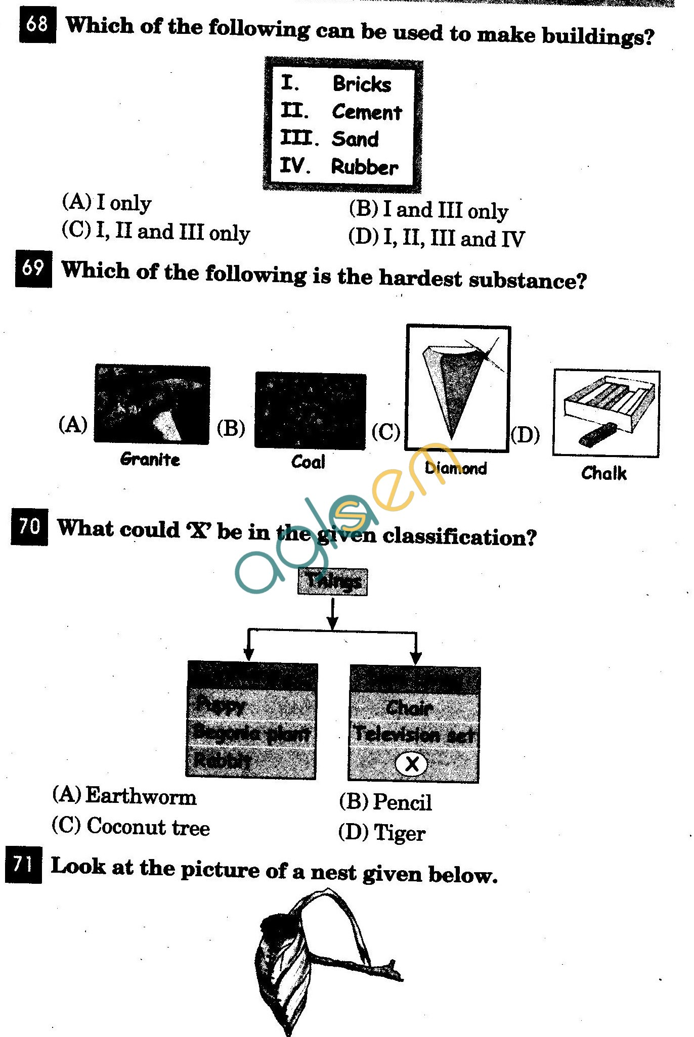 NSTSE 2011 Class III Question Paper with Answers - Science