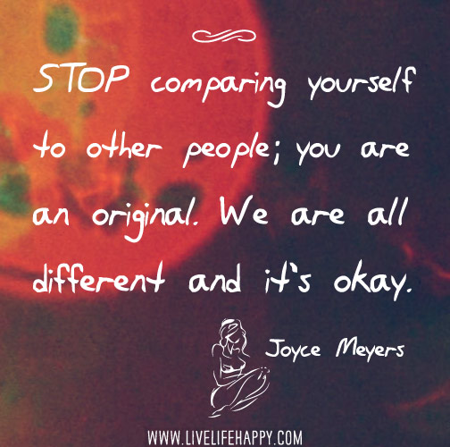 in Quotes. Stop comparing