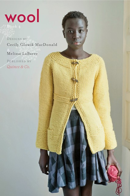 Odetta Cardigan  and cover of Wool: book 4