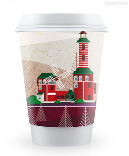 lighthouse coffee cup case design