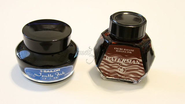 Sailor and Waterman Inks