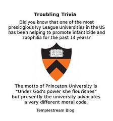Infanticide and Zoophilia at Princeton Universtiy