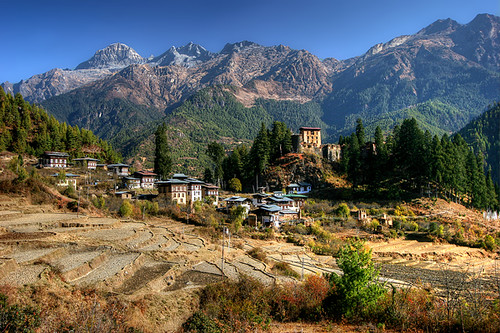 bhutan monastery dzong paro himalaya fortress bt