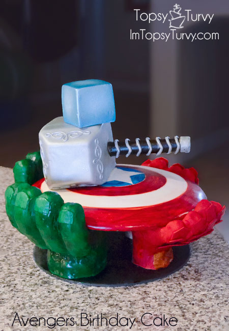 avengers-carved-birthday-cake-shield-hammer-glove-Tesseract