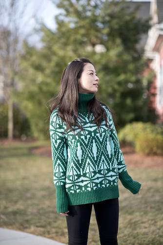Welcome to FABBYLIFE: JCrew Fair Isle sweater with biker leggings ...