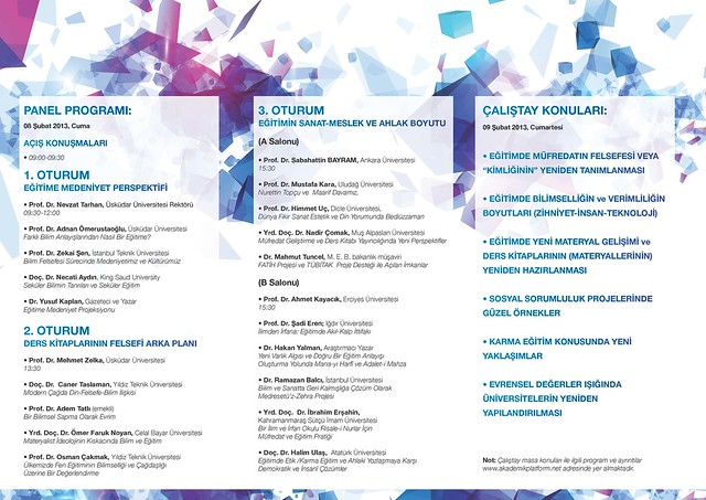 Eğitimde Paradigma Dönüşümü (Panel ve Çalıştay) 2