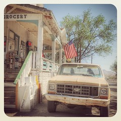 Quirky Madrid New Mexico Turqoise Trail Pickup Truck Grocery WFC81
