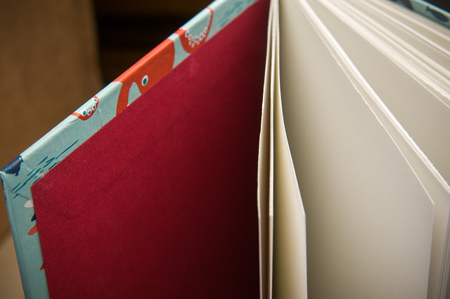 Endsheets on a Coptic Sketchbook by Kleiner Eisbar