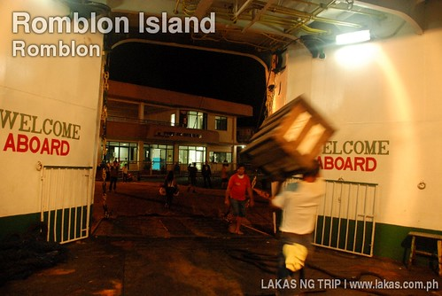 Arrival at Romblon Island at the boat from Batangas Port