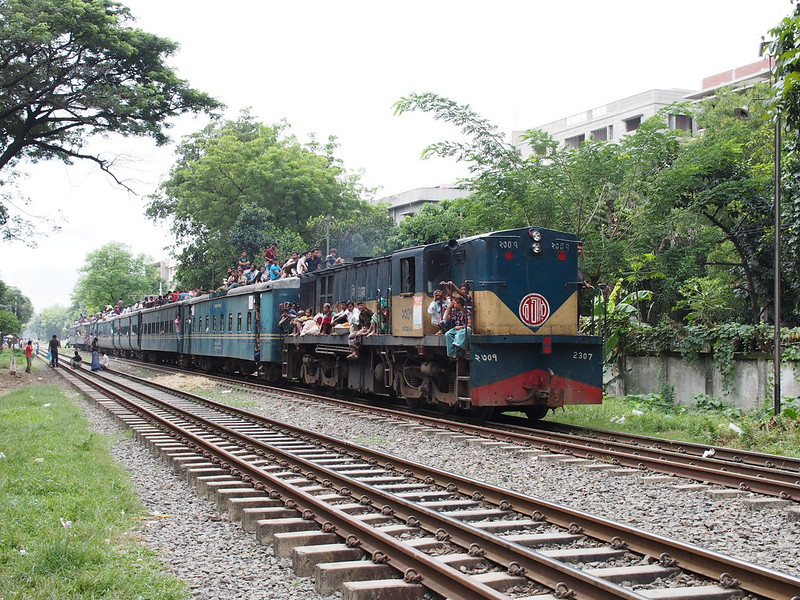 Approaching local train, Bangladesh Railway
