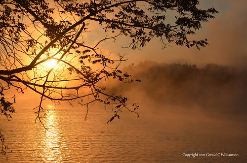 Sunrise over Lake Ocoee