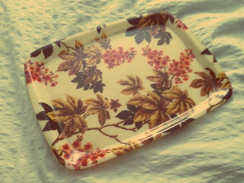 autumnal vintage tray