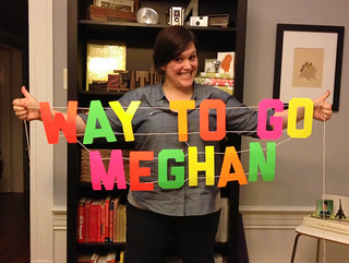 Tomorrow Meghan is running a half marathon!
