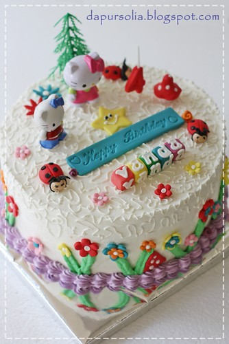 Tips Hello Kitty Rainbow Cake For Vanda