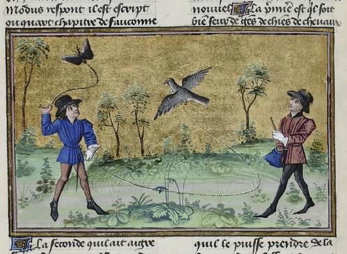 15th century illuminated manuscript miniature: Henri de Ferrières, Les Livres du roy Modus et de la royne Ratio 111