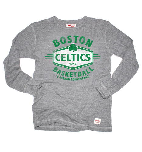 Boston Celtics Morpheus Long Sleeve Gray Shirt By Sportiqe