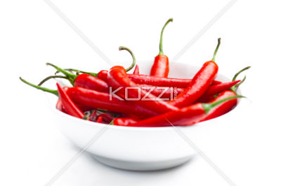 Full Frame Chilli Peppers in a Bowl